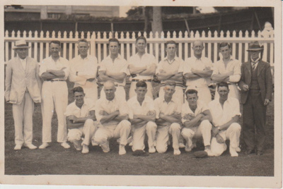 Country Week Cricket, Auckland Domain; c1936; 2017.380. 37