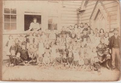 Pakuranga School pupils, c1890; c1890; 2019.025.01