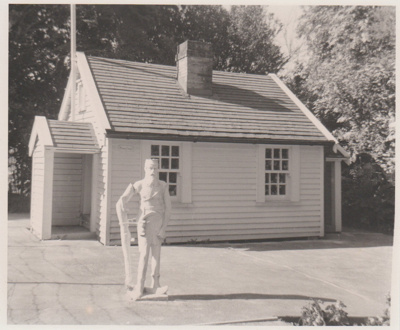 Miniature replica of a double-unit Fencible pensioner's cottage; c1968; 2019.091.08