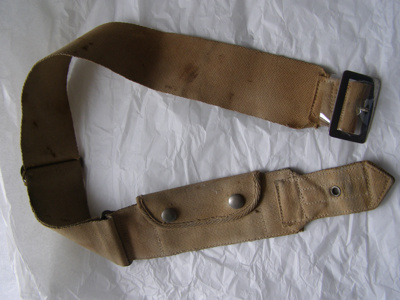Army Uniform Belt; Unknown; 1939-1945; T2015.24.3.2