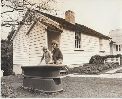Horse trough in the Garden Of Memories.; N.Z.Herald; 1974; 2019.096.02