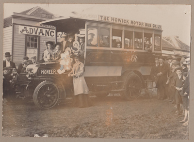 The first Howick Motor bus; 1904; 2017.490.02