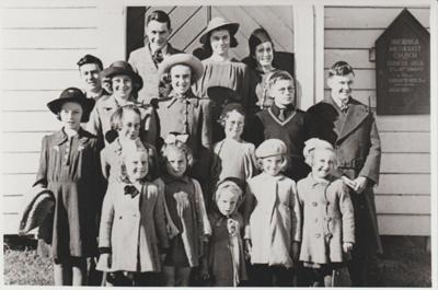 Pakuranga Methodist Sunday School pupils, 1941; 1/07/1941; 2018.289.36