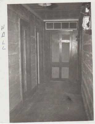 Shamrock Cottage hallway.; 1967; 2018.035.28