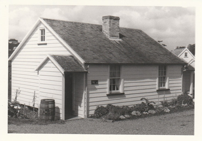 Briody-McDaniel's cottage, previously McDermott's, at the Howick Historical Village.; La Roche, Alan; September 1980; P2020.98.10