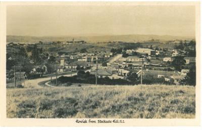 Howick Village from Stockade Hill; 1947; 2016.133.50