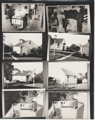 Proof sheet of 8 printed images of McDermott's cottage; 1975; 2019.096.03