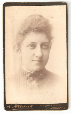 Carte de Visite of bust of unknown woman with bar ...