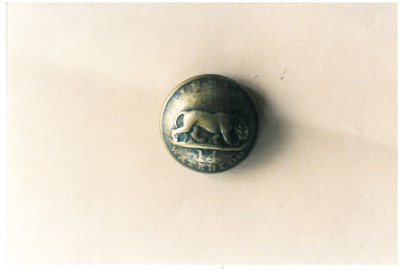 Brass buttons from the 14th Regiment of Foot.; 1861-1863; 2017.148.24