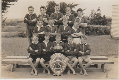 Howick District High School winners of the Callexis Shield; Sloan, Ralph S; 1949; 2019.072.02