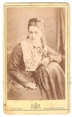 Carte de Visite of unknown woman with flower patte...