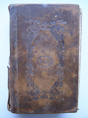 Evelyn Wade's Bible. Leather bound.