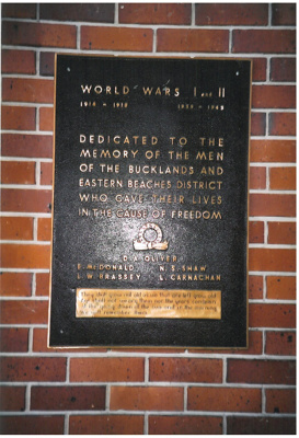 World War I and II memorial placque; La Roche, Alan; 2011; 2017.024.81