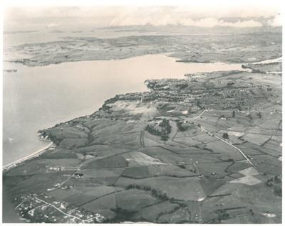 Aerial view of Pakuranga to Beachlands; Whites Aviation; 1940; 2016.453.50