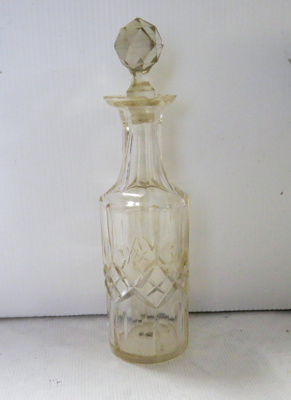 Oil bottle with glass stopper. Part of cruet set. ...