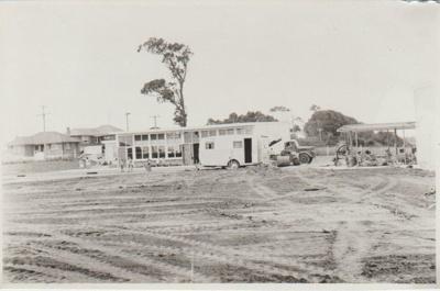 Owairoa School, under construction.; Sloan Photo Service, Bucklands Beach; c1960; 2019.068.21