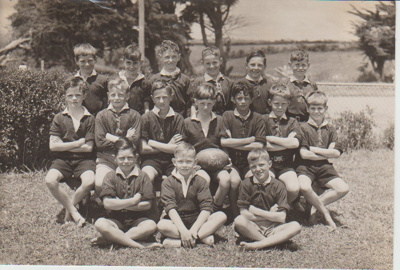Howick District High School Rugby Football Primary C team.; 1946; 2019.072.23