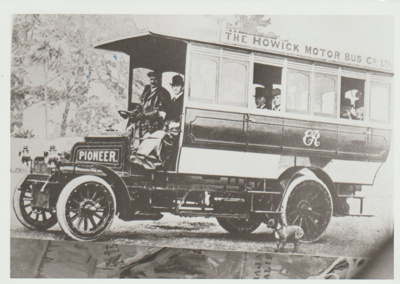 The first Howick Motor bus; Auckland Weekly News; 1904; 2017.489.00