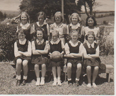 Howick District High School Primary C Basketball team; Sefton, William John; 1946; 2019.071.47