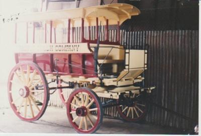 Horse bus in HHV; La Roche, Alan; c1990; 2017.455.49