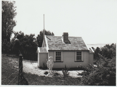 Miniature replica of a double-unit Fencible pensioner's cottage; Richardson, James D; 1940s; 2019.091.06