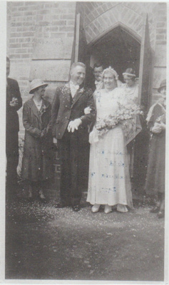 The wedding of Florrie Mills and Ken Ferguson; 1934; 2018.385.05