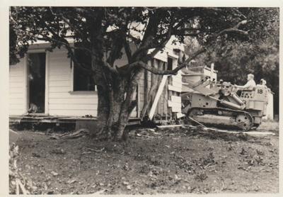 Howick Playcentre demolition; La Roche, Alan; 1/11/1968; 2018.078.09