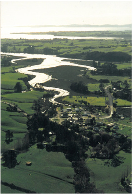 Aerial photo of Whitford, 1990; Bielby, H; 1990; 2017.079.20