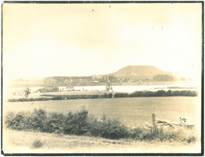 Looking across the Tamaki River from Roberts farm to Mt Wellington; c1960; 2017.239.62