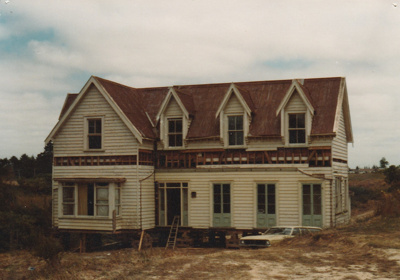 McLaughlin's Homestead from Wiri under renovation after being moved to Howick Historical Village; P 2020.01.12