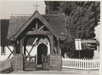 Lych gate, All Saints Church; 1975; 2018.190.25