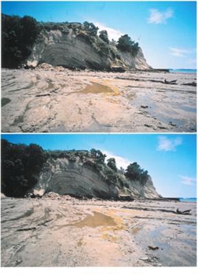 Eastern Beach cliffs; La Roche, Alan; 2010; 2017.052.16