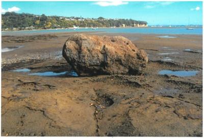 Anchor stone in the Turanga River; La Roche, Alan; 1/12/2010; 2017.078.20