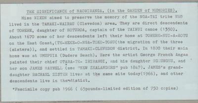 Significance of Maoritanga in the Garden of memories.; 2015; 2019.090.19