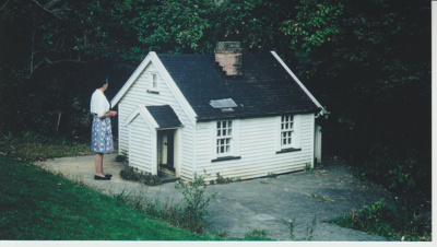 Miniature replica of a Fencible pensioner's cottage; Jones, Monty; 2019.091.33