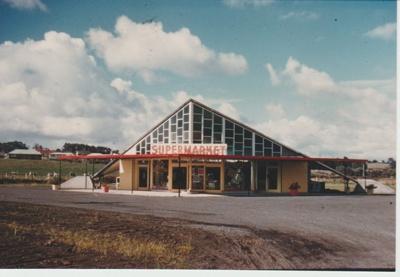 Lloyd Elsmore's hyperbolic peraboloid supermarket building at Pakuranga; Wigley, Paul; 1957-1958; 2018.106.21