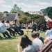 Fencible soldiers playing tug of war against villagers on a Live Day  in Howick Historical Village.; 21 March 2001; P2021.121.14
