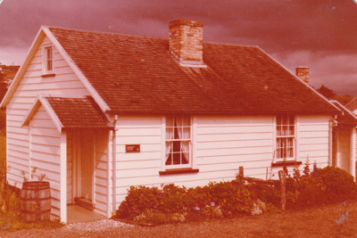 Briody-McDaniel's cottage, previously McDermott's, at the Howick Historical Village.; La Roche, Alan; December 1980; P2020.98.12