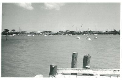 Tamaki River from the Panmure Wharf; Young, Bob; c1962; 2017.256.11
