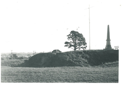 The Eastern bastion and Soldiers' memorial on Stockade Hill.; La Roche, Alan; Sept.1970; 2016.311.69