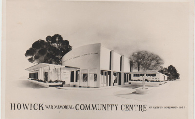 The proposed Howick War Memorial Community Centre emorial Community Centre; 1951; 2017.631.49