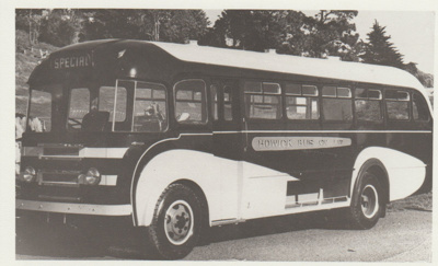 The Howick Bus Company's bus in the 50s.; 1950-1960; 2017.491.07