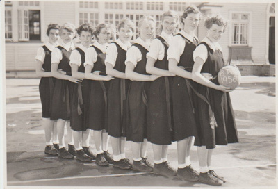 Howick District High School Basketball team; Sloan, Ralph S; 1956; 2019.071.44