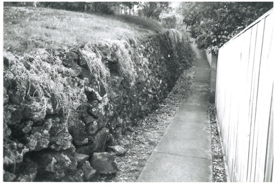 Path between Selwyn and Uxbridge Roads; La Roche, Alan, Howick; Oct.2001; 2016.402.05