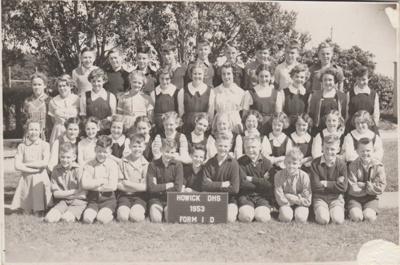 Howick District High School Form 1 D 1953.; Sloan, Ralph S; 1953; 2019.080.27