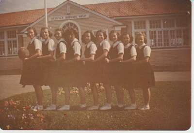 Howick District High School basketball team; Sefton, William John, Penrose; c1960; 2019.071.22