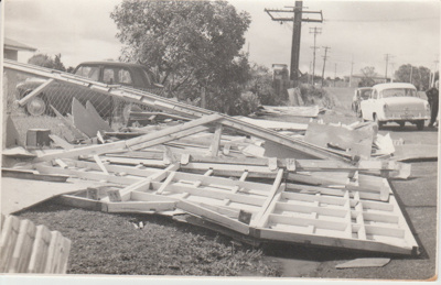 Tornado damage HDHS, 1959; Young, Heather; 1/12/1959; 2019.088.08