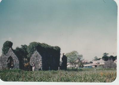 St Thomas' Church, Kohimarama in ruins.; 1934; 2018.278.19