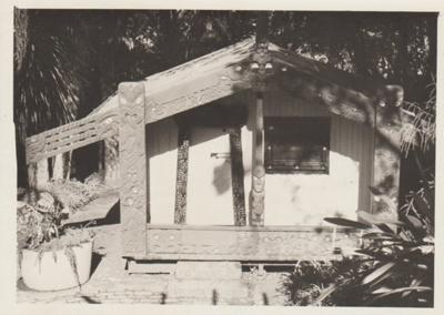 Torere Ngai Tai (Maori Meeting House) in the Garden of Memories.; 1936-1946; 2019.090.14