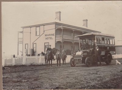 The first Howick Motor bus; 1904; 2017.490.01